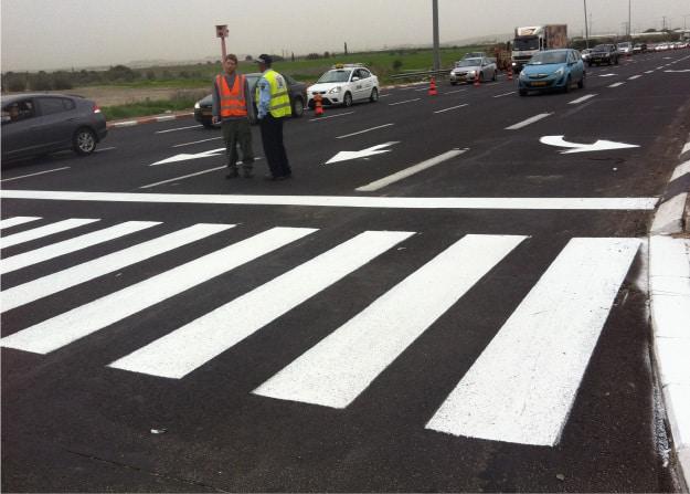 סימון כבישים - מניעת תאונות דרכים