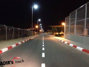 צביעת מדרכות כביש